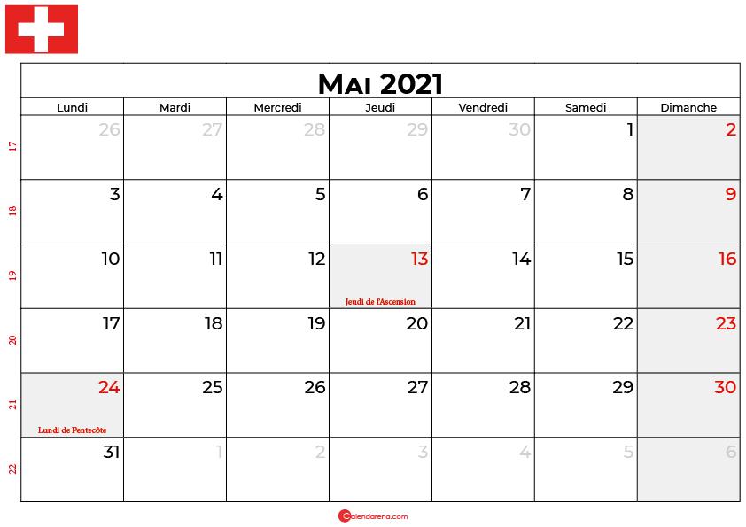 calendrier mai 2021 suisse