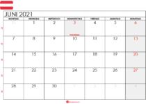kalender 2021 juni Österreich