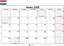 kalender april 2021 nederland