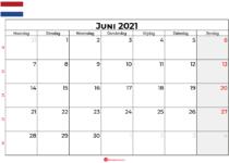 kalender juni 2021 nederland