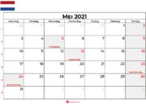 kalender mei 2021 nederland