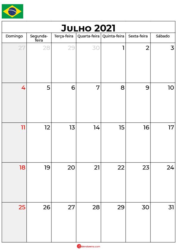 calendário de julho de 2021 brasil