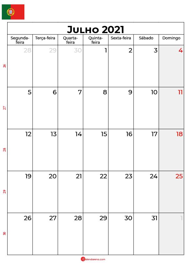 calendário de julho de 2021 portugal