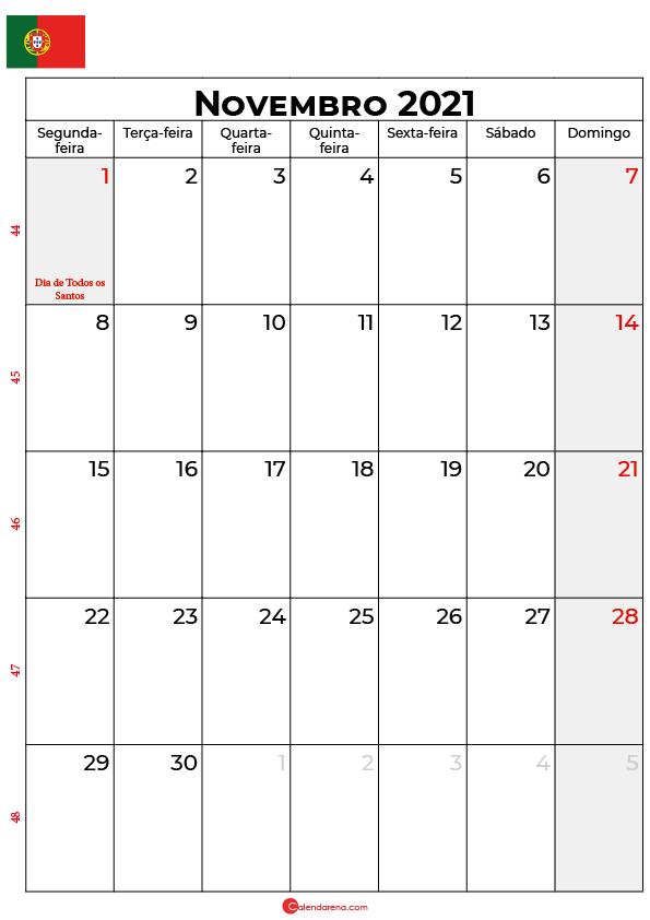 calendário de novembro de 2021 portugal
