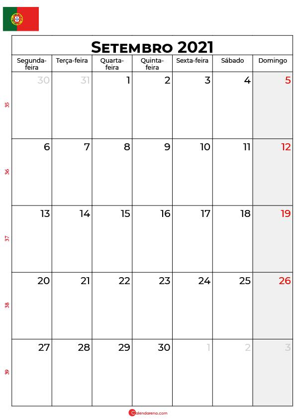 calendário de setembro de 2021 portugal