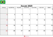 calendário julho 2021 brasil