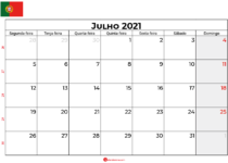 calendário julho 2021 portugal