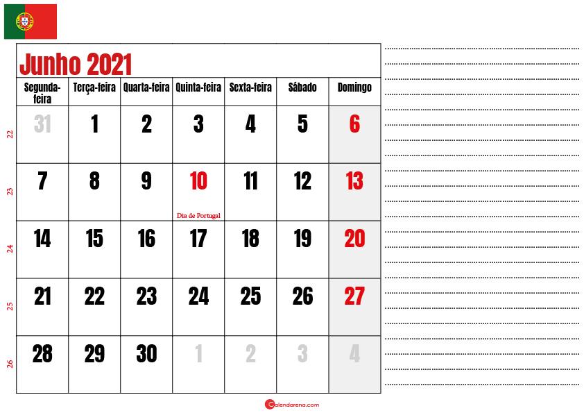 calendario junho 2021 para imprimir portugal