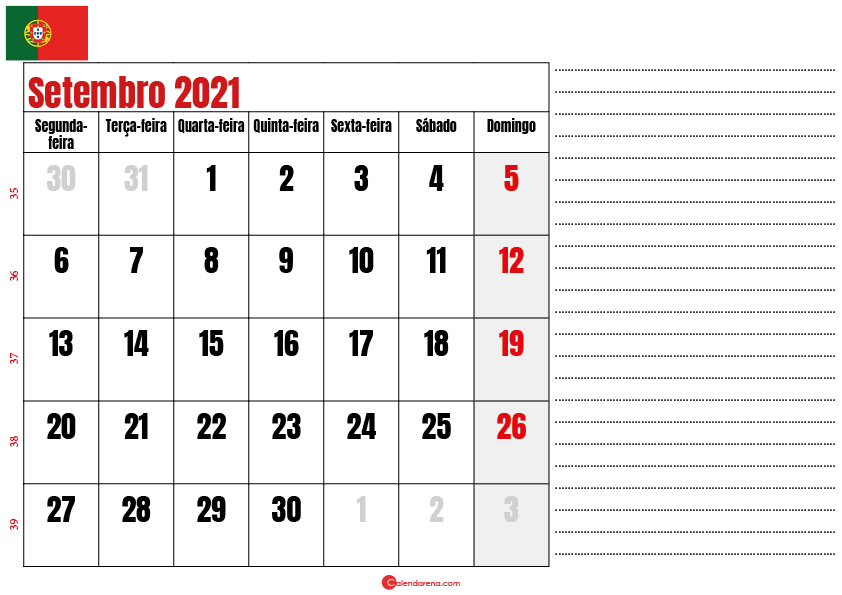calendario setembro 2021 para imprimir portugal