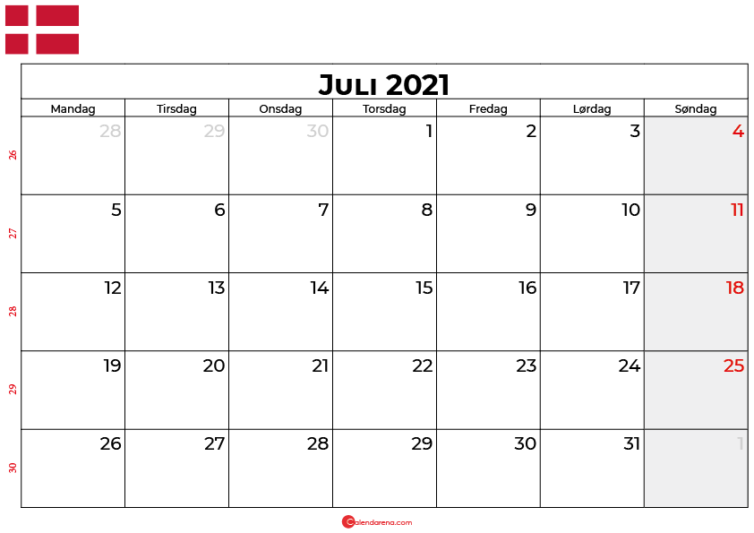 kalender juli 2021