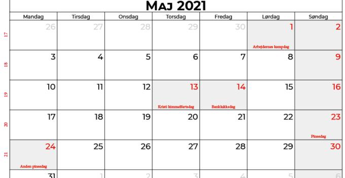 kalender maj 2021