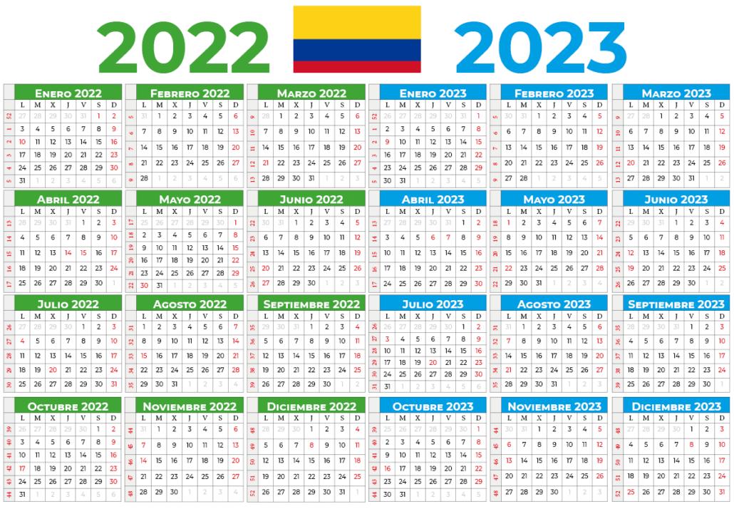 Calendário 2022-2023 colombia