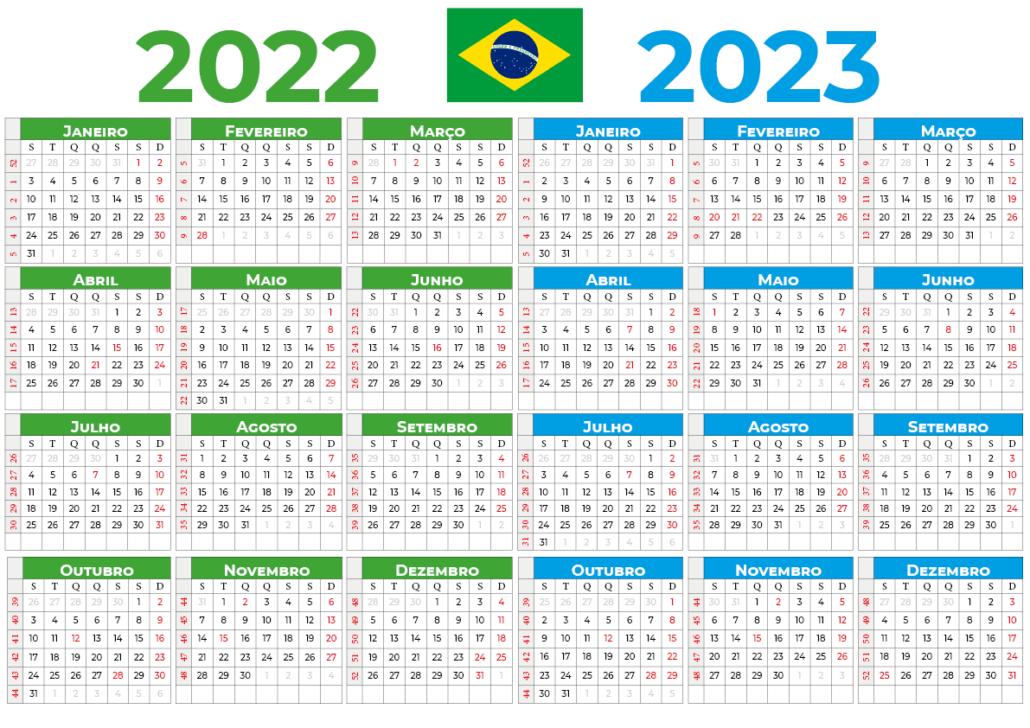 Calendário 2022-2023 do brasil