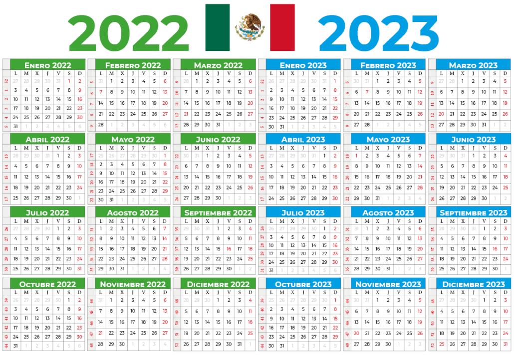 Calendário 2022-2023 mexico