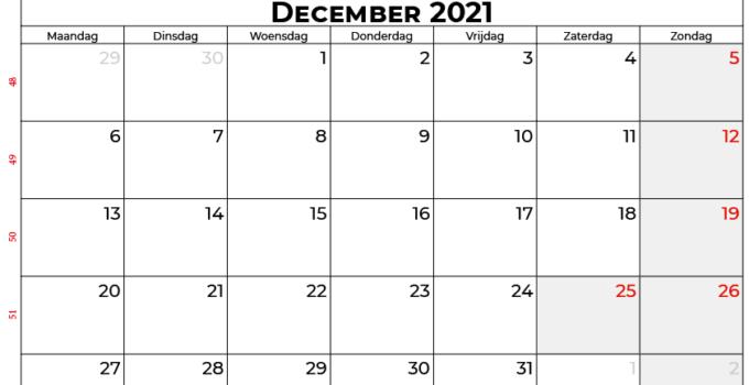Kalender december 2021 nl