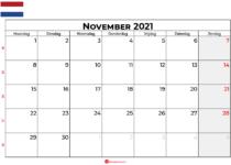 Kalender november 2021 nl