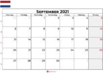 Kalender september 2021 nl