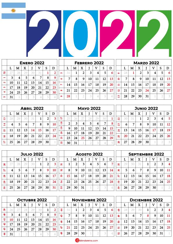 calendario 2022 argentina con festivos pdf