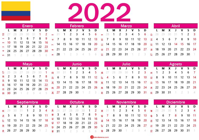 calendario 2022 colombia