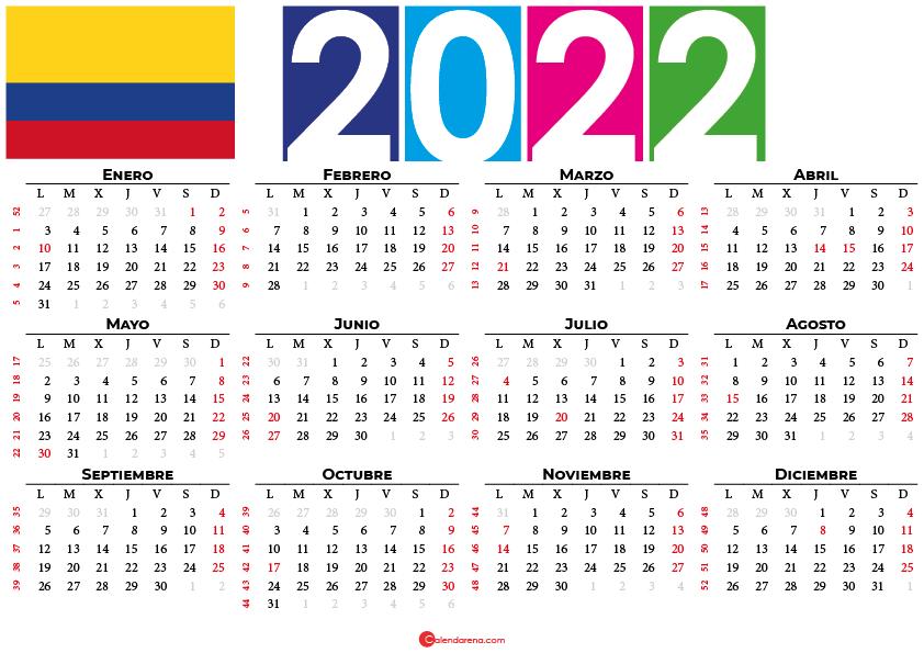 calendario 2022 festivos colombia