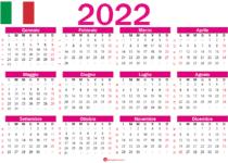 calendario 2022 italiano