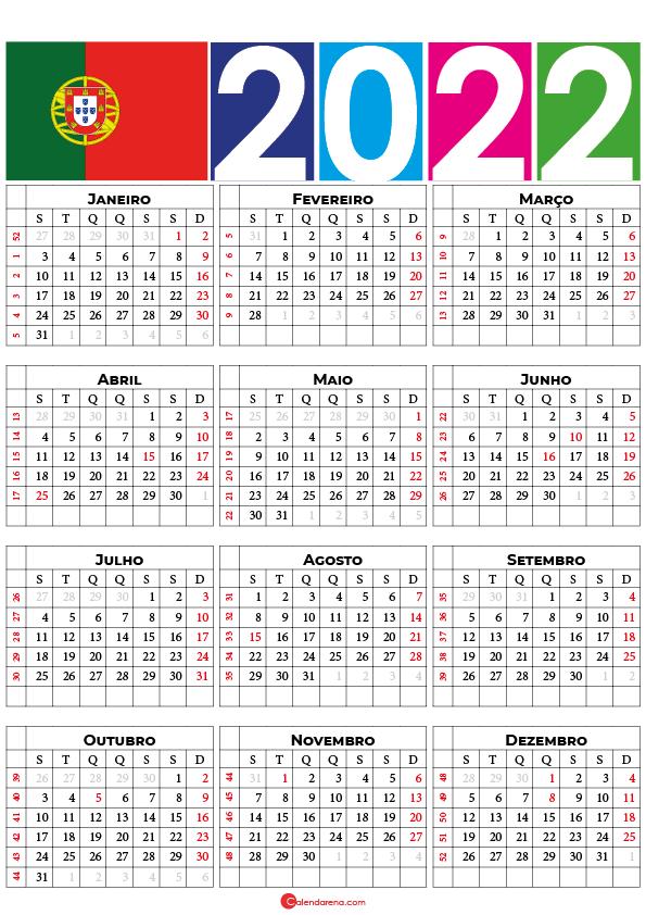 calendario 2022 portugal con festivos pdf
