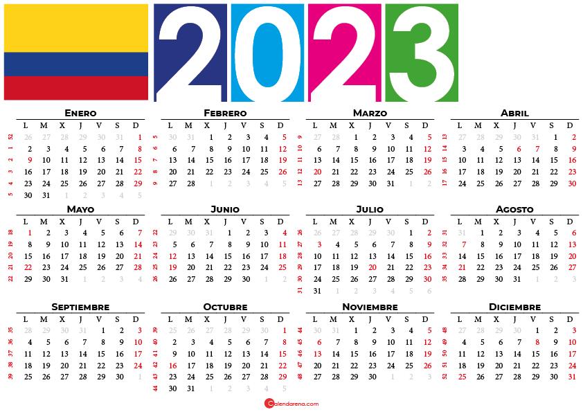 calendario 2023 colombia