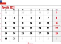 calendario agosto 2021 chilie