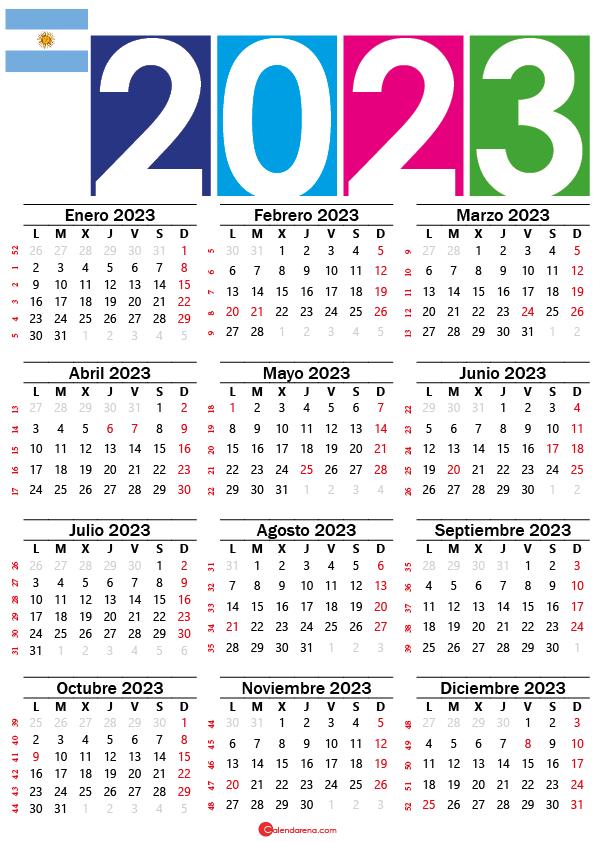 calendario argentina 2023 con festivos