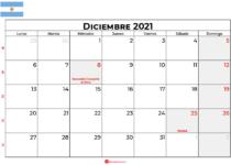 calendario diciembre 2021 argentina
