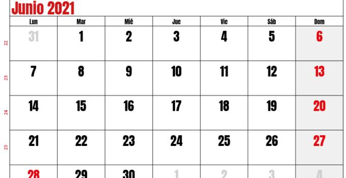 calendario junio 2021 chilie