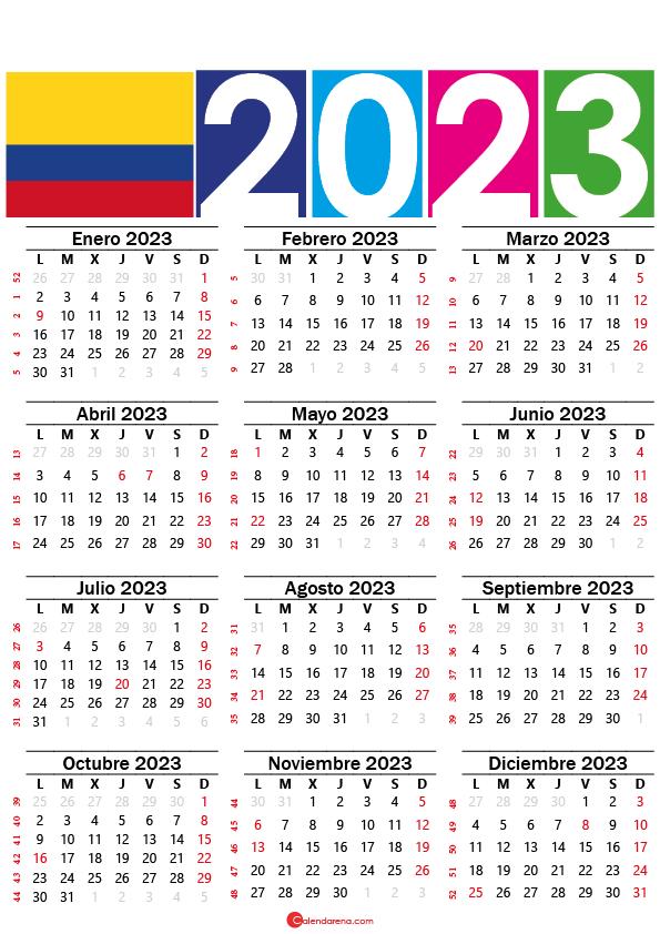 calendario mexico 2023 con festivos