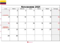 calendario noviembre 2021 colombia