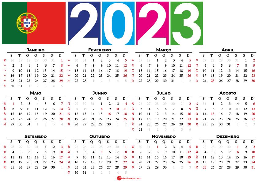 calendario portugal 2023 con festivos