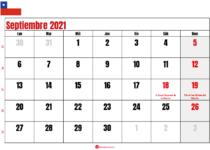 calendario septiembre 2021 chilie