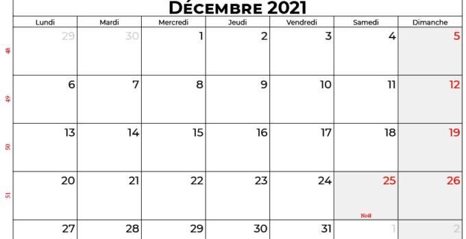 calendrier décembre 2021 swisse