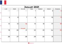 calendrier juillet 2021 france