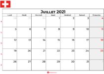 calendrier juillet 2021 swisse