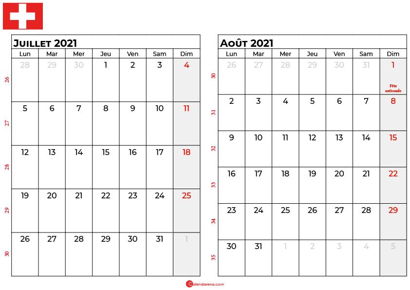 calendrier juillet aout 2021 suisse
