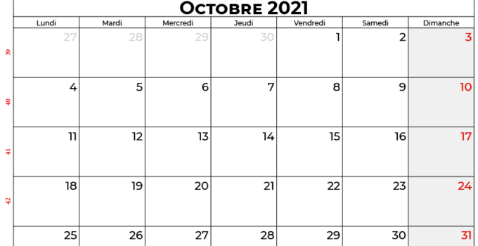 calendrier octobre 2021 swisse