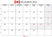 december 2021 calendar ca