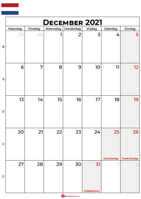 december kalender 2021 nl