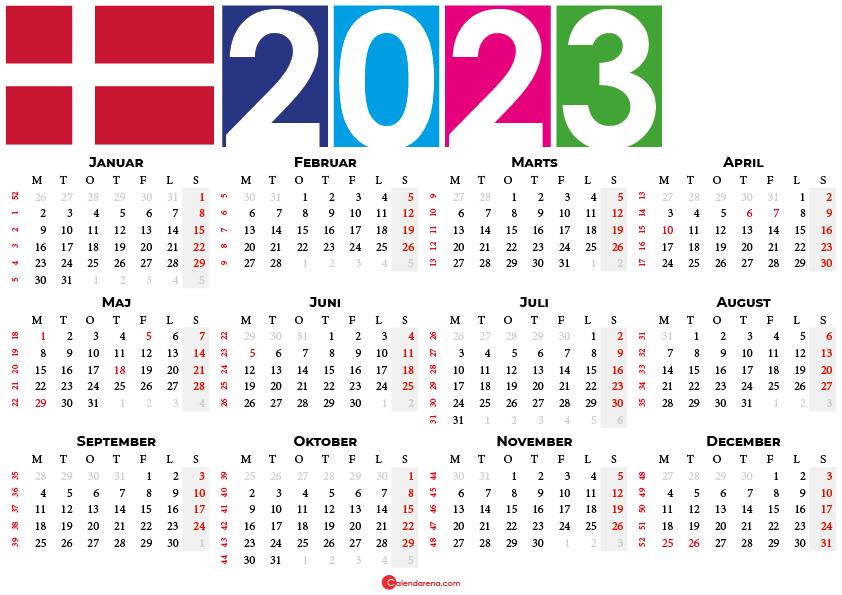 kalender 2023 med uger
