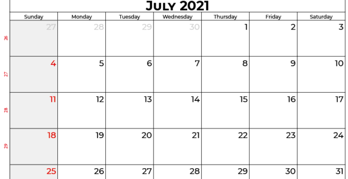 july 2021 calendar au