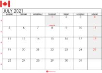 july 2021 calendar ca