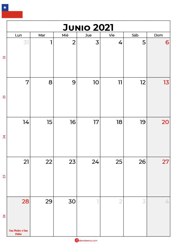 junio 2021 calendario