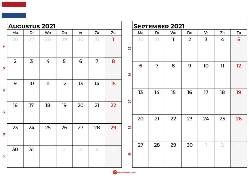 kalender augustus september 2021 nl