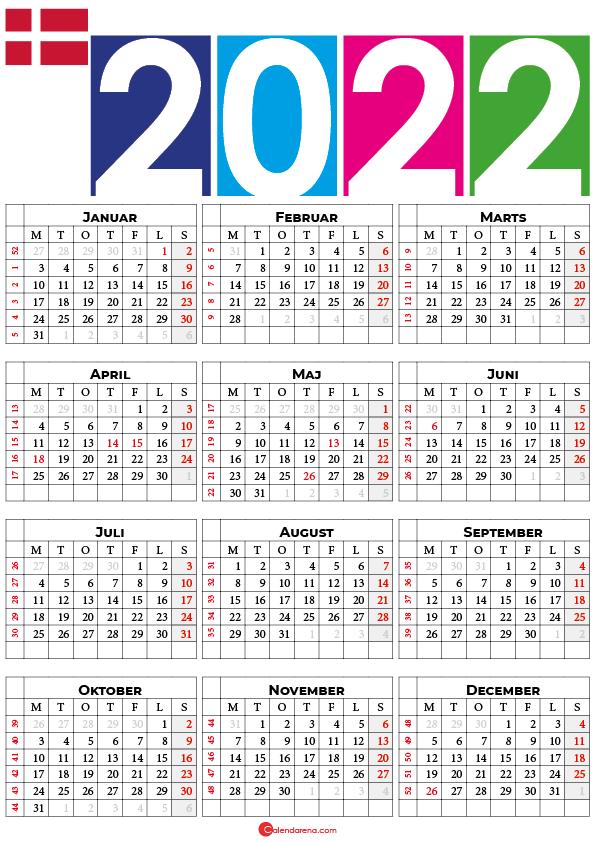 kalender i 2022