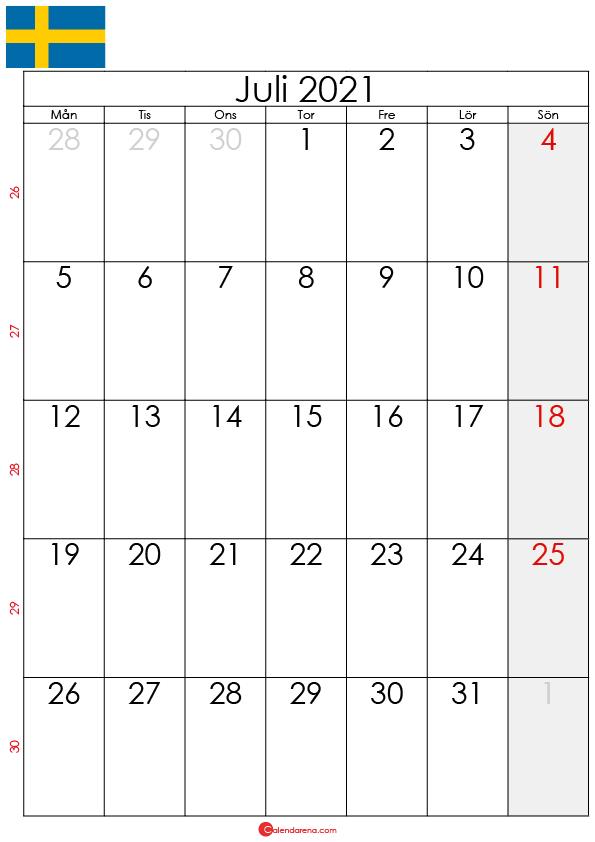 kalender juli 2021 sw