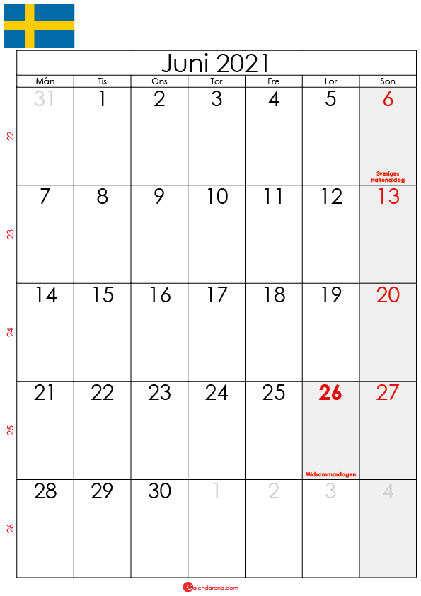 kalender juni 2021 sw